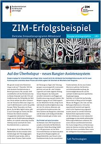 Cover der Publikation: ZIM-Erfolgsbeispiel