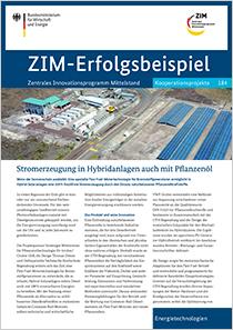 Cover der Publikation: ZIM-Erfolgsbeispiel 184