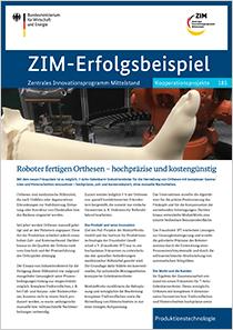 Cover der Publikation: ZIM-Erfolgsbeispiel 185