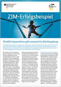 Cover der Publikation: ZIM-Erfolgsbeispiel 187