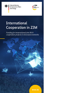 Cover des Flyers ZIM International